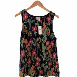ANTHRO Meadow Rue Cartagena Floral Blouse